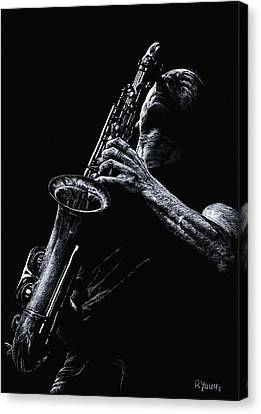 Eclectic Sax Canvas Print by Richard Young