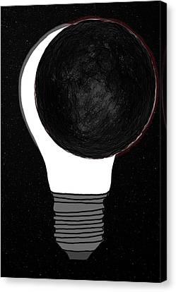 Canvas Print featuring the drawing Eclipse by John Haldane
