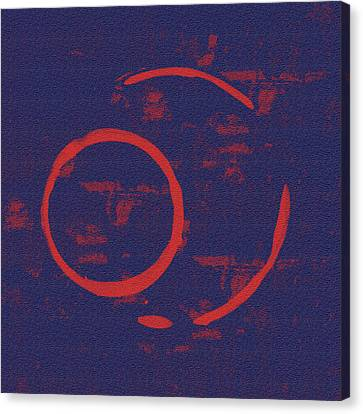 Abstract Expressionism Canvas Print - Eclipse by Julie Niemela