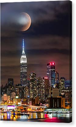 Canvas Print featuring the photograph Eclipse by Mihai Andritoiu