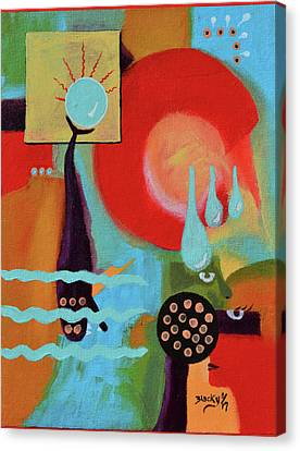 Hidden Canvas Print - Eclipsing Troubled Waters by Donna Blackhall