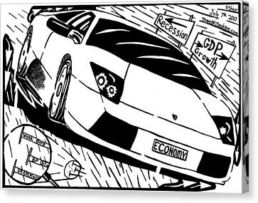 Economy In High Gear By Yonatan Frimer Canvas Print by Yonatan Frimer Maze Artist