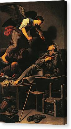 Ecstasy Of St Francis Canvas Print by Carlo Saraceni