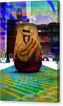 Canvas Print featuring the photograph Ecuadorian Vase Art by Al Bourassa