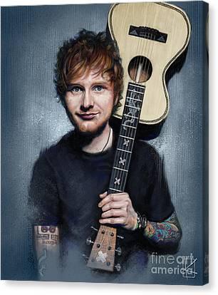 Ed Sheeran Canvas Print by Andre Koekemoer