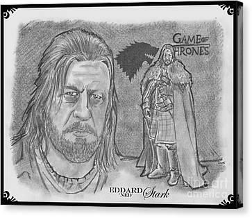 Eddard Stark Canvas Print by Chris  DelVecchio