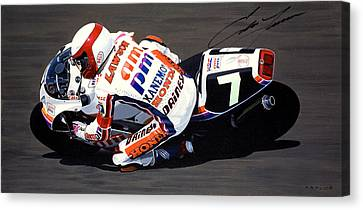Eddie Lawson - Suzuka 8 Hours Canvas Print