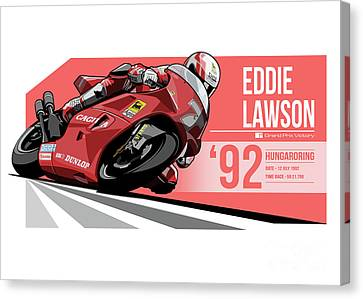 Eddie Lawson - 1992 Hungaroring Canvas Print