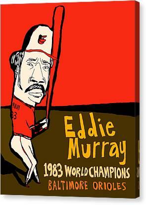 Eddie Murray Baltimore Orioles Canvas Print by Jay Perkins