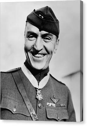Eddie Rickenbacker Wearing The Medal Of Honor  Canvas Print by War Is Hell Store
