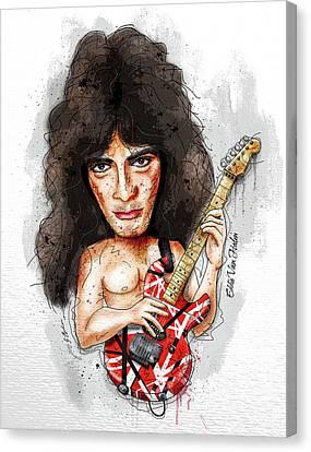 Van Halen Canvas Print - Eddie Van Halen by Gary Bodnar
