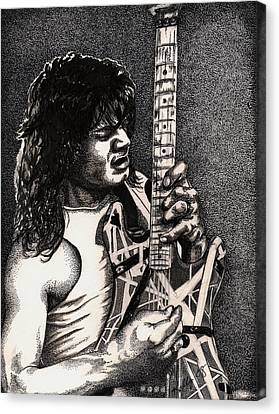 Eddie Vanhalen Canvas Print by Kathleen Kelly Thompson