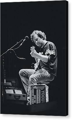 Pearl Jam Canvas Print - Eddie Vedder Playing Live by Marco Oliveira