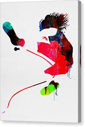 Eddie Watercolor Canvas Print by Naxart Studio