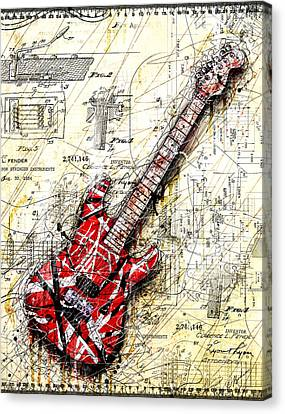 Eddie's Guitar 3 Canvas Print by Gary Bodnar