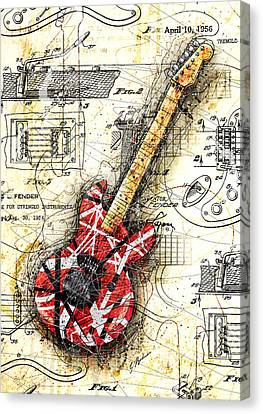Eddie's Guitar II Canvas Print