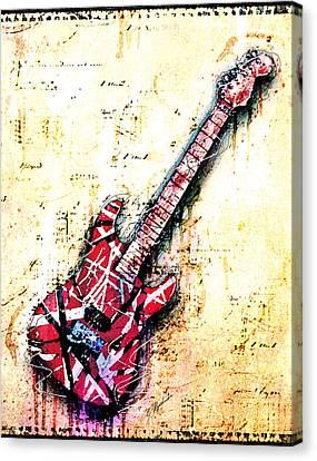 Van Halen Canvas Print - Eddie's Guitar Variation 07 by Gary Bodnar