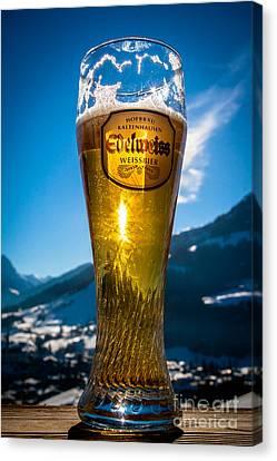 Edelweiss Beer In Kirchberg Austria Canvas Print
