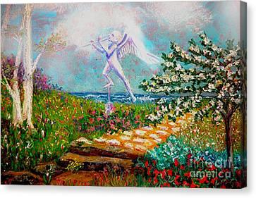 Eden's Garden Canvas Print by Gail Allen