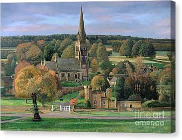 Edensor - Chatsworth Park - Derbyshire Canvas Print by Trevor Neal