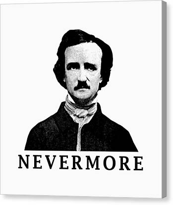 Edgar Allan Poe - Nevermore Canvas Print by War Is Hell Store