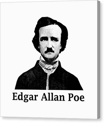 Edgar Allan Poe Canvas Print by War Is Hell Store