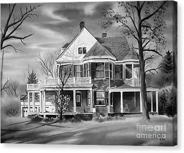 Edgar Home Bw Canvas Print by Kip DeVore