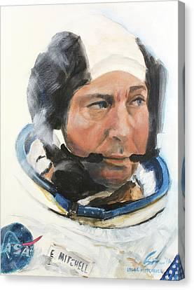 Edgar  Mitchell Canvas Print by Simon Kregar