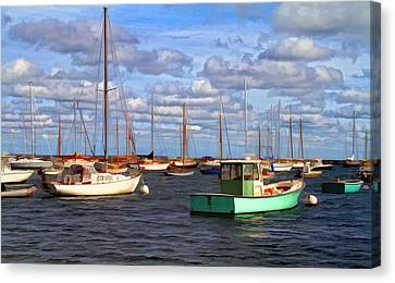 Edgartown Harbor Canvas Print by Gina Cormier