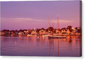 Edgartown Harbor Canvas Print by John Burk