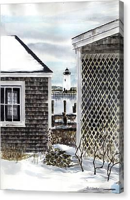 Edgartown Winter Canvas Print by Paul Gardner