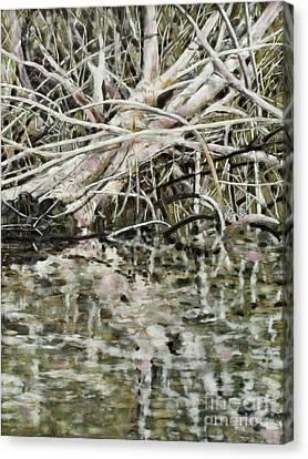 Canvas Print - Edge Of Smith Lake by Andrea Benson
