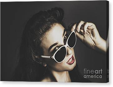 Edgy Fashion Pin Up Model Canvas Print by Jorgo Photography - Wall Art Gallery