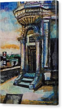 Edina Bank Canvas Print by Laurie Tietjen