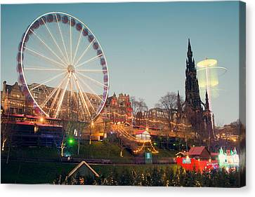 Edinburgh And The Big Wheel Canvas Print