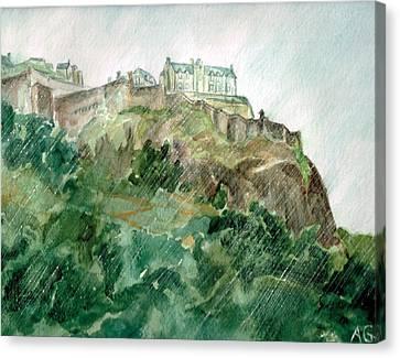 Edinburgh Castle Canvas Print by Andrew Gillette