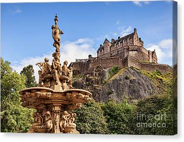 Edinburgh Castle Canvas Print by Colin and Linda McKie