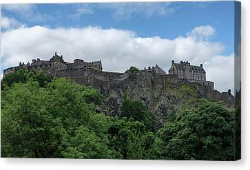 Canvas Print featuring the photograph Edinburgh Castle In Scotland by Jeremy Lavender Photography