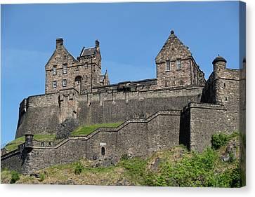 Canvas Print featuring the photograph Edinburgh Castle by Jeremy Lavender Photography