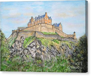 Edinburgh Castle Canvas Print by Yvonne Johnstone