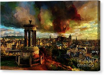 Edinburgh Scotland 01 Canvas Print