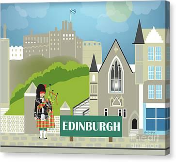 Edinburgh Scotland Horizontal Scene Canvas Print