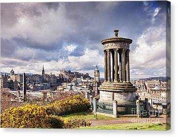Canvas Print featuring the photograph Edinburgh Skyline by Colin and Linda McKie