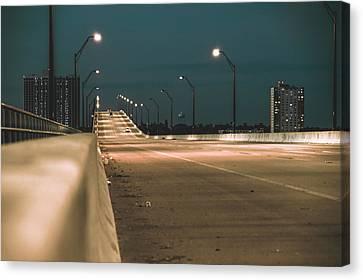 Edison Bridge Top Canvas Print by Michael Frizzell