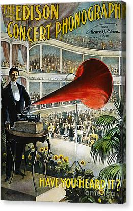 Edison Phonograph Ad, 1899 Canvas Print by Granger