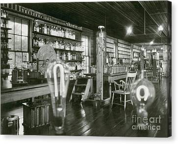 Thomas Alva Edison Canvas Print - Edisons Menlo Park Lab by Science Source