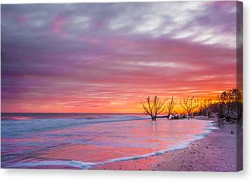 Edisto Beach Sunset Canvas Print by RC Pics