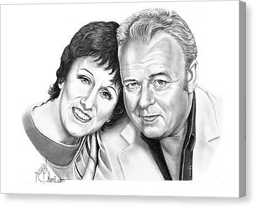 Edith And Archie Bunker Canvas Print by Murphy Elliott