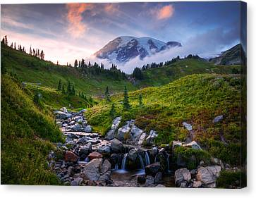Edith Creek Sunset Canvas Print