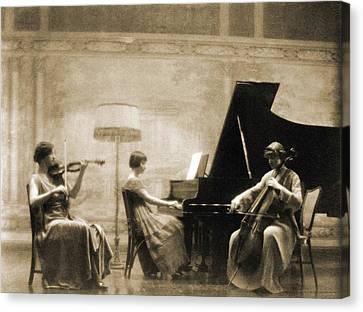Edith Rubel Trio Performing, Left Canvas Print by Everett